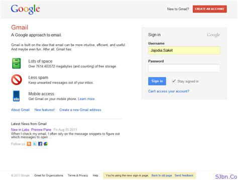 gmail new login page saket jajodia