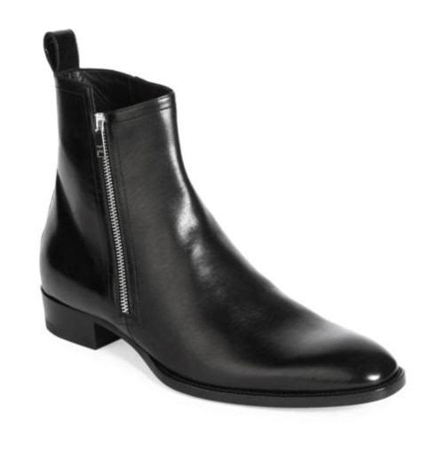 mens chelsea boots with side zip handmade black chelsea leather boots fashion side