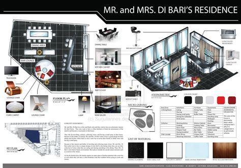 exles of interior design presentation design studio 1 presentation board residential project