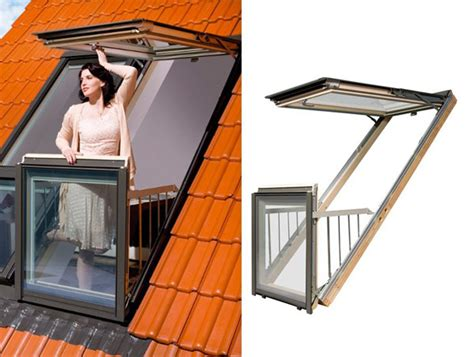 window balcony design innovative windows by fakro can add small terraces to attic rooms freshome