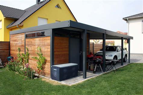 Carports Aus Stahl by Design Metall Carport Aus Holz Stahl Glas Mit Ger 228 Teraum