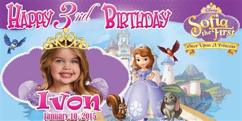 birthday tarpaulin layout free download birthday tarpaulin disney sofia the first template by