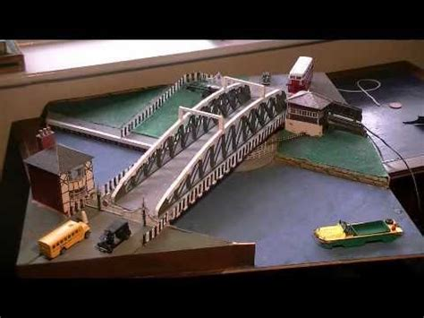 swing bridge model working model of northwich town swing bridge youtube
