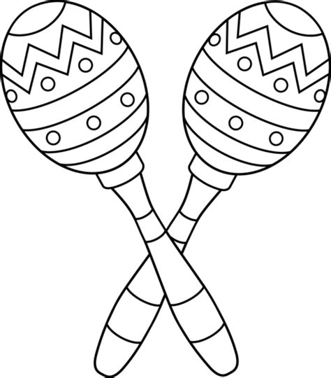 two maracas line art free clip art