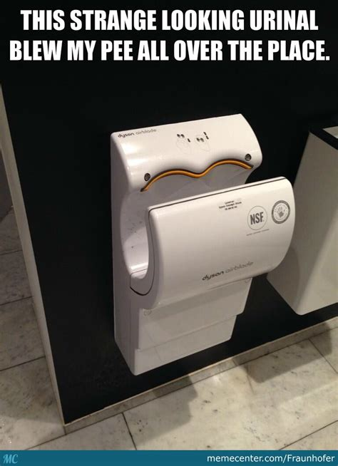 Hand Dryer Meme - strange looking urinal by fraunhofer meme center