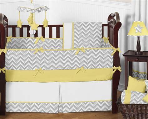 yellow chevron crib bedding gray and yellow chevron zig zag baby bedding 9pc crib