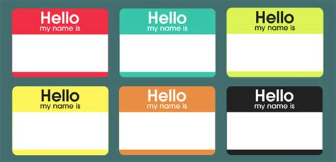 printable name tag color free printable hello my name is color nametags things