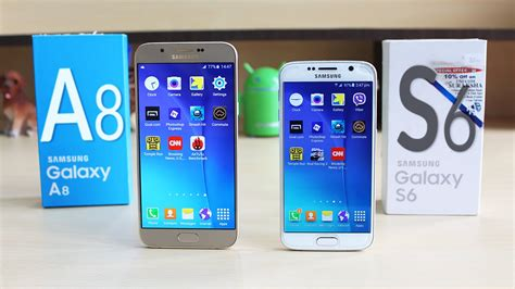 Samsung S6 Vs A8 Samsung Galaxy A8 Vs Galaxy S6 Speed Multitasking Test