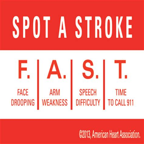 signs of a stroke in a symptoms of a stroke in go for