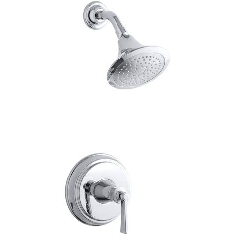 Kohler Single Handle Shower Faucet Parts shop kohler archer polished chrome 1 handle shower faucet