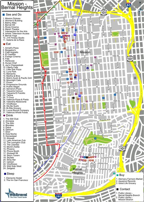 san francisco map mission district file sanfrancisco missiondistrict map png wikitravel shared