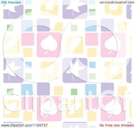 pastel pattern illustrator cartoon of a seamless pastel leaf square pattern royalty
