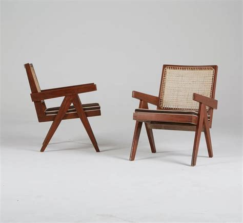 easy armchairs pierre jeanneret chandigarh easy armchairs set of two