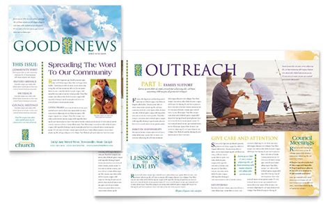 Christian Church Newsletter Template Design Christian Newsletter Templates