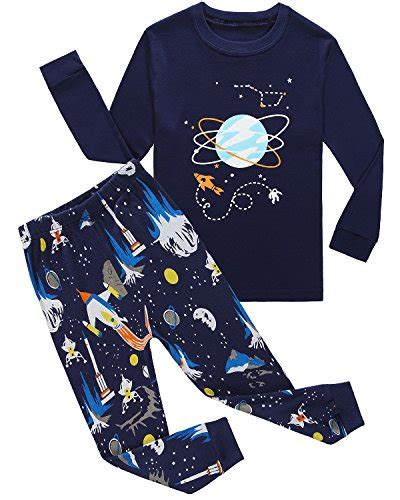 Wst11514 Set Space Cotton family feeling space boys pajamas sets 100 cotton clothes toddler clothing