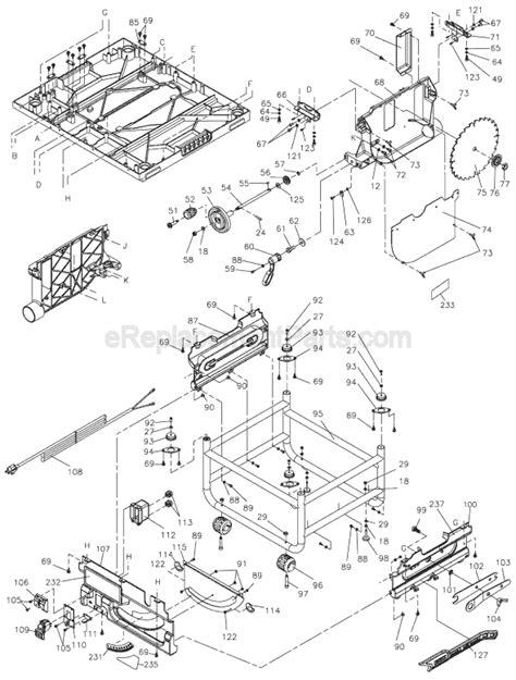 Dewalt Dw745 Parts List And Diagram Type 1