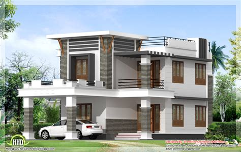 house design plans photos 1800 sq ft flat roof home design kerala home design and