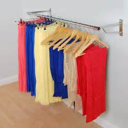 Europa wall mounted clothes amp garment rail system 1830mm wide