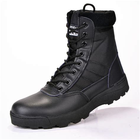 2017 new us leather boots for combat bot
