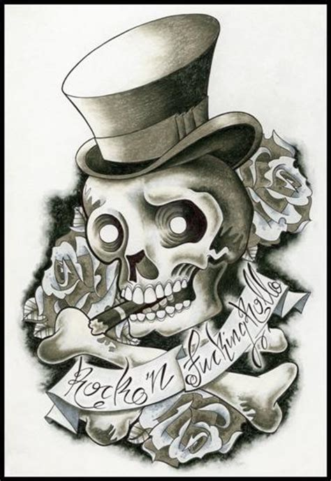imagenes de calaveras rockeras fotos de tatuajes tatuajes de rock and roll