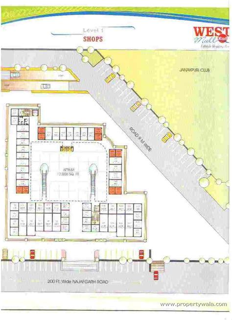 plan com westend mall janakpuri new delhi office space project