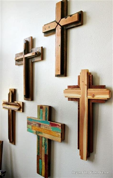 rustic reclaimed wood crosses httpbec