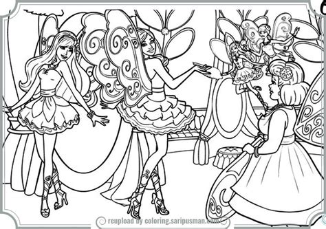coloring pages barbie fashion fairytale barbie fashion fairytale coloring pages printable