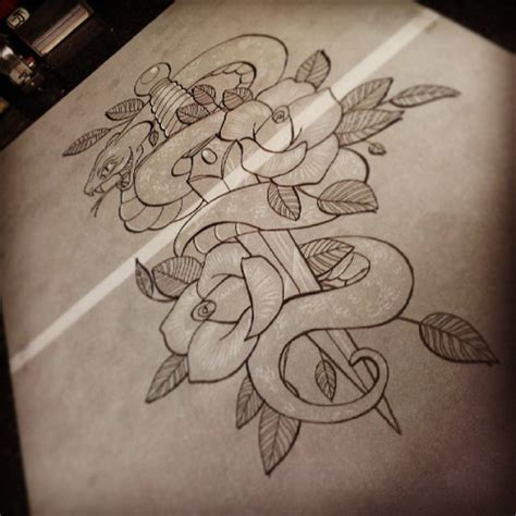snake and rose tattoo designs 42 neo traditional snake tattoos
