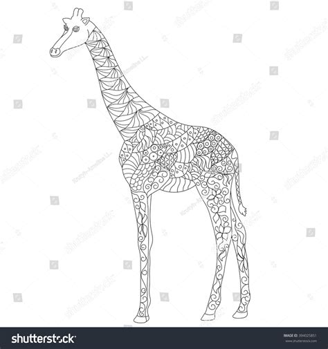 zentangle giraffe coloring pages path coloring page anti stress zentangle giraffe stock