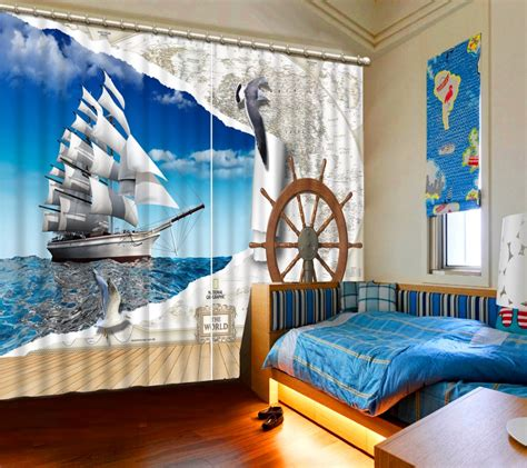 sailboat window curtains online get cheap sailboat window curtains aliexpress com