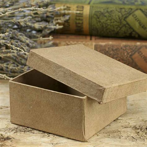 Paper Mache Boxes How To Make - small square paper mache box baskets buckets boxes