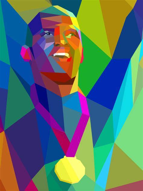 futuristic colors colorful geometric illustrations of 2012 olympics