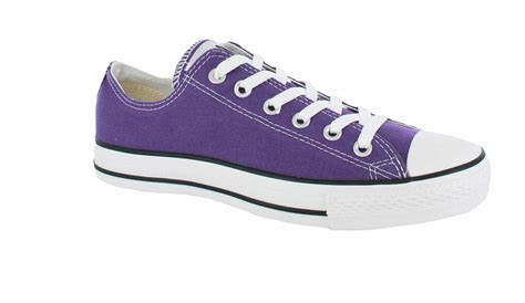 purple converse shoes converse all chuck ox purple unisex trainers