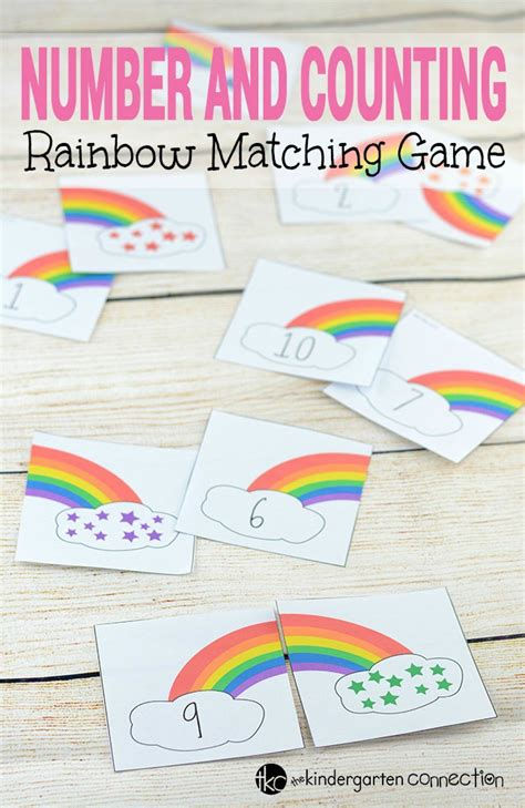 printable rainbow numbers rainbow counting number puzzles the kindergarten connection