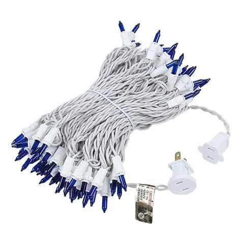 white wire holiday lights blue christmas mini lights on white white novelty lights inc