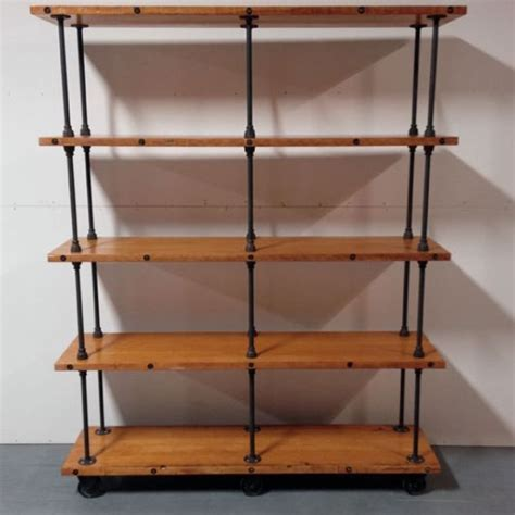 iron pipe shelving handmade industrial iron pipe storage shelf by object a custommade