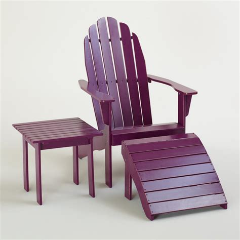 purple patio furniture magenta purple classic adirondack collection modern