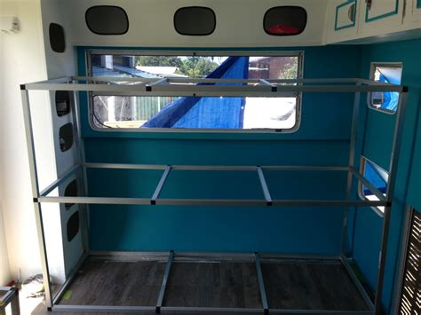 Caravan With Bunk Beds Building Caravan Bunks Australia Adventure Transportation Caravan Bunks