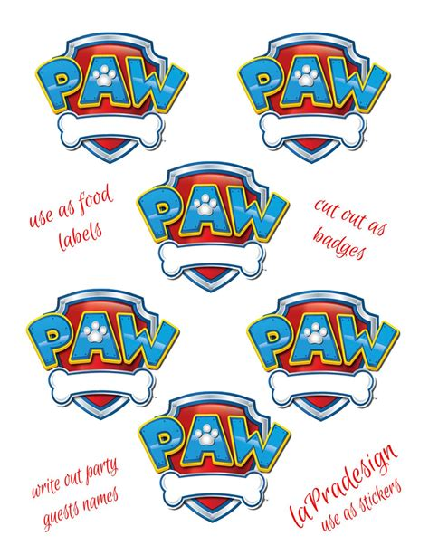 Paw Patrol Birthday Shirt Template Paw Patrol Birthday Party Badge Pdf File By Lapradesign On Etsy 3 00 Cameo Projects