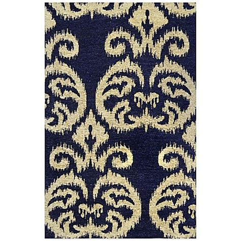 Navy Kitchen Rug Home Dynamix Trella 25 6 Inch X 43 3 Inch Kitchen Rug In Navy Bed Bath Beyond