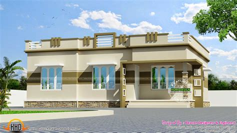 single floor house front view designs plans in kerala 2018