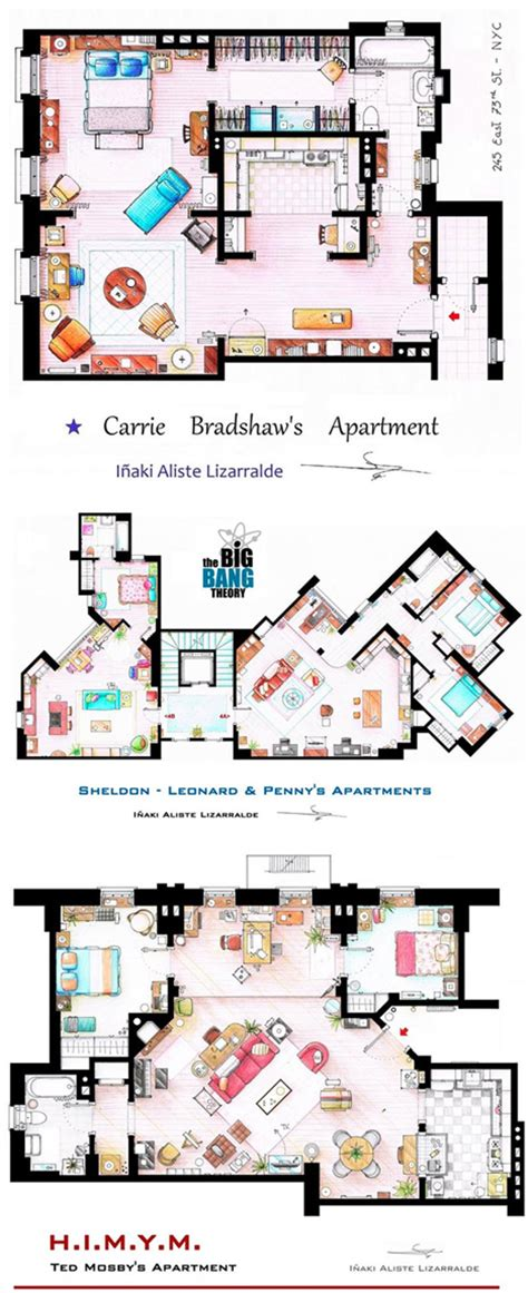 Tv Show Floor Plans by As Seen On Tv Floor Plans From Famous Television Series