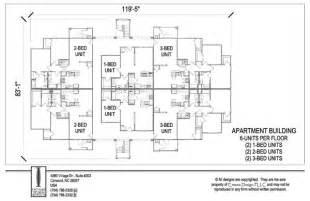 2 Unit Apartment Building Plans Apartments 6 Units