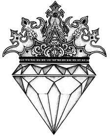 diamond crown by luciananedelea on deviantart