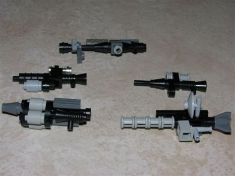 Miniatur Pistol Sniper Steel minifig weapons a lego 174 creation by makuta bane