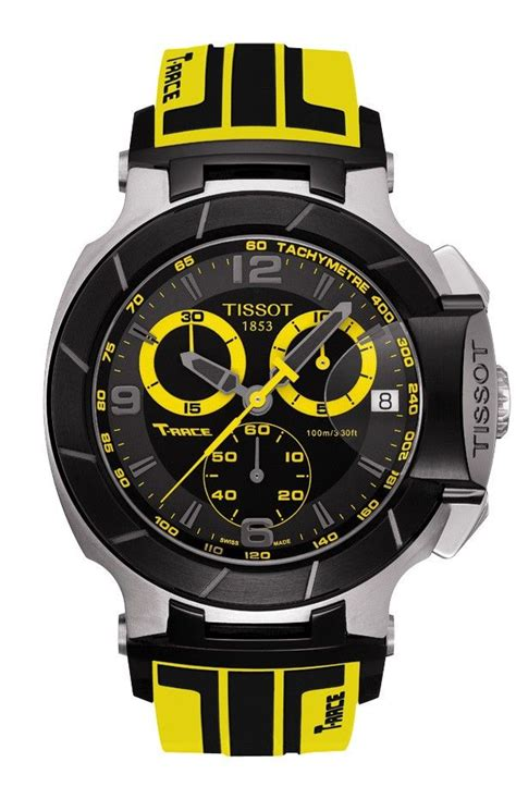 Tissot T Race Yellow Black Chain tissot t race s quartz chronograph black