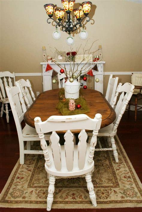 shabby chic christmas dining room christmas pinterest