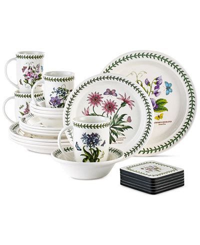 Portmeirion Botanic Garden Set Portmeirion Botanic Garden 22 Set Service For 4 Dinnerware Dining Entertaining Macy S