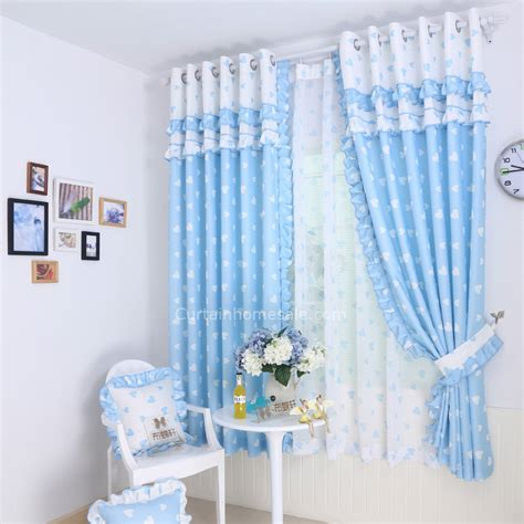 Beautiful lace curtain made of poly cotton blend fabric of bay window curtains