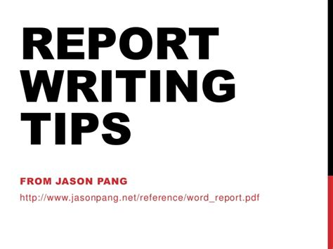 Report Writing Tips by Report Writing Tips